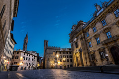 The Streets Of Florence... (JH Images.co.uk) Tags: italy florence firenze hdr dri morning art architecture church street empty night bluehour sky