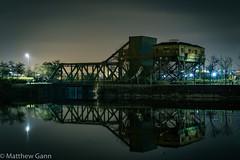 Egerton Bridge (Matthew Gann) Tags: night canon g7x docks birkenhead bridge reflection wirral merseyside winter egerton