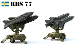 Robotsystem 77 (Matthew McCall) Tags: lego sweden swedish army missile air defense sam rbs 77 robotsystem hawk mim23 military war moc