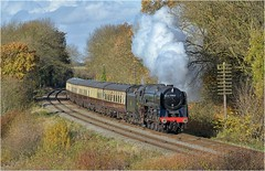 70013. On the 12.45 ............. (Alan Burkwood) Tags: gcr kinchleylane br britannia class7mt 70013 olivercromwell steam locomotive