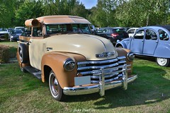 1949 Chevrolet 3100 pick-up (pontfire) Tags: 1949 chevrolet 3100 pickup automotortrorouen auto autos automobili automobile automobiles voiture voitures coche coches carro carros wagen american utilitaire amricaine chevy classic antique old vieille collection ancien ancienne pontfire