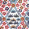 Kyoto yuzen washi 2 (tengds) Tags: handmadepaper japanesepaper yuzenwashi kyotoyuzen washi chiyogami flowers leaves orange brown green blue white tengds black