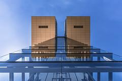 Twin Blocks (-Der Franke-) Tags: canon eos6d eos 6d ef1635f4l ef 1635 f4 l germany deutschland kln cologne kranhaus symmetrie symmetry symmetrisch symmetrical architektur architecture gebude building abstrakt abstract bothe richter teherani brt zollhafen alfons linster rheinauhafen hochhaus weitwinkel modern simple minimalistic minimalistisch