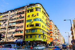 Ma Tou Kok (Kai-Ming :-))) Tags: kaiming kmwhk hongkong matoukok oldapartment sunlight color colorful yellow hdr