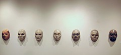 """Seven Deadly Sins,"" Raku pottery by Megan Otto (ali eminov) Tags: wayne nebraska colleges waynestatecollege galleries nordstandvisualartsgallery visualarts artists potters sculptors meganotto sins rakupottery sevendeadlysins"