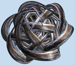 6 Tori / 6つの輪環 (TANAKA Juuyoh (田中十洋)) Tags: torus 輪環 りんかん ドーナツ トーラス どーなつ mathematica 3d cg parametricplot3d texture code program algorithm abstruct graphic design pattern structure mapping figure プログラム コード アルゴリズム テクスチャ マッピング 模様 もよう 抽象 ちゅうしょう アブストラクト グラフィック グラフィクス パターン デザイン 意匠 いしょう 構造 こうぞう 図形 ずけい symmetry 対称性 たいしょうせい シンメトリー 対称 たいしょう