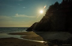 Sunset at Indian Beach - Ecola State Park (spetersonphotography) Tags: ocean statepark sunset beach silhouette oregon sand nikon oregoncoast cannonbeach ecolastatepark indianbeach oregonstatepark nikond5200 nikonafsdx18140mmf3556edvr