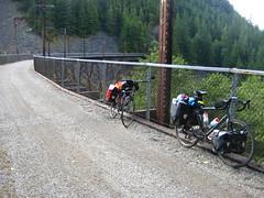 Trestle and View II (WireLizard) Tags: bike washington biketour gravel ironhorsestatepark johnwaynepioneertrail