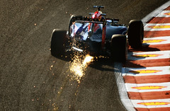 Cars. Sparks. Eau Rouge. Oh my! (nic_r) Tags: f1 renault practice sparks formula1 spa redbull motorsport fp1 2015 spafrancorchamps eaurouge belgiangrandprix rb11 ricciardo danielricciardo