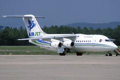 Air Jet BAe 146-200QC F-GOMA GRO 06/09/1995 (jordi757) Tags: airplanes girona bae costabrava lege bae146 avions gro airjet bae146200 fgoma