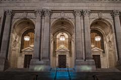 New York Public Libary (ayigitb) Tags: shadow ny night nikon manhattan architectural historical libary d5100