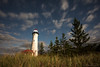 Moonlit Crisp Point (Eric Hines Photography) Tags: moon lighthouse night stars landscape michigan moonlight nightsky upperpeninsula dunegrass crisppointlighthouse nikond810 nikon1424mmf28