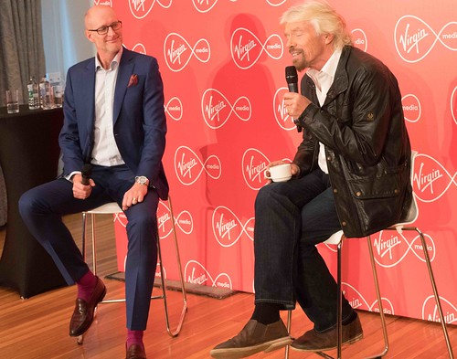 RICHARD BRANSON INTRODUCES VIRGIN MEDIA TO THE PRESS [1st. October 2015] REF-10858512
