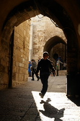 Soccer Ball Run - Jewish Quarter, Jerusalem, Israel