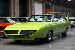 Plymouth Superbird Convertible (Damors) Tags: green classic museum plymouth convertible huge grn cabrio oneoff spoiler roadster cabriolet remise meilenwerk superbird einzelstck