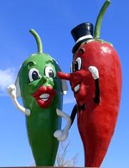 Bride and Groom Chiles, Hatch, New Mexico (RV Bob) Tags: chile newmexico statue gimp hatch brideandgroom