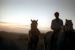29-476 (ndpa / s. lundeen, archivist) Tags: road sunset sky horses people horse man color film silhouette fiji clouds rural 35mm landscape evening dusk interior nick silhouettes southpacific dirtroad 29 1970s 1972 rider ontheroad horseback youngman horsebackriding dewolf oceania localpeople fijian pacificislands horsebackrider southpacificislands nickdewolf photographbynickdewolf reel29 northfiji
