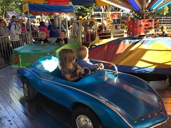 """Paul and Inde Ride in a Car at Sonny Acres • <a style=""""font-size:0.8em;"""" href=""""http://www.flickr.com/photos/109120354@N07/22928849420/"""" target=""""_blank"""">View on Flickr</a>"""