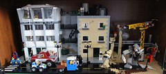 Street of Heroes (Courge) Tags: black castle toys mod noir lego falcon minifig chateau fortress jouet forteresse moc faucon 6074