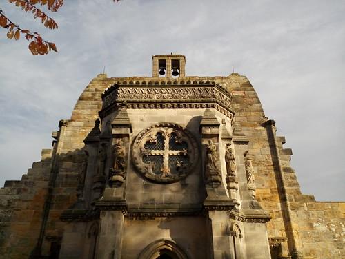 La célèbre chapelle de Rosslyn, Écosse