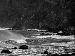 Waves (bjorbrei) Tags: sea beach water rock coast spain waves shore seashore canaryislands lagomera playadelingles vallegranrey