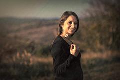 Happy woman - First pregnancy (Nicobert.com) Tags: portrait woman canon headshot marion pregnant strobist topazclean canon5dmarkiii sigma85mmf14dghsm yongnuo568 topaztextureeffects