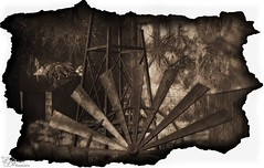 All That Remains - 11/2016 (IvoryBouscario) Tags: secondlife sl windmill mill broken old vintage photo picture worn burnt burned farm memory wheel sepia ripped torn