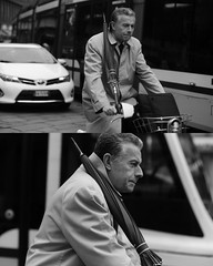 [La Mia Citt][Pedala] con il BikeMi e con l'ombrello (Urca) Tags: 8914 milano italia 2016 bicicletta pedalare ciclicsta ritrattostradale portrait bike bicyclenikondigitale mir biancoenero bn bw blackandwhite
