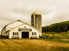 Lee's Stable on a Cloudy Day (Ed Newman) Tags: leesstable litchfield connecticut stable fujifilmx100t