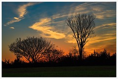 Autumn Sunset (vainapur) Tags: sun sky sunlight serene shilloute simple autumn sunset sunrays midwest middleamerica dusk open openskies colors clouds color colorpallete nature naturespainting naturespallete naturescolors naturallight kansas kansascity fall