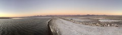 Atardecer en la Laguna Chaxa (Mono Andes) Tags: andes chile altiplano punadeatacama reservanacionallosflamencos panorama salardeatacama atardecer lagunachaxa