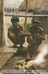 Iggorote Pipe Makers- Seattle's 1909 AYPE (912greens) Tags: iggorotes indigenous tribes philippines 1909 worldsfair seattle aype postcards alaskayukonpacificexposition