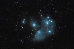 M45 Pleiades. (bas_grootenhuis) Tags: charles messier 45 m45 open cluster astrophotagraphy photography canon 60d lodestar nebula stars bastrophotography
