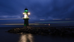 Scandlines arrives @Lighthouse Warnemuende (tonzn) Tags: warnemnde leuchtturm lighthouse longexposure slowshuttershelter slowshutter ostsee balticsea fhre scandlines
