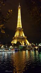 A la orilla del Sena (Kilmar2010) Tags: paris nocturna nightview reflejos reflects spiegel torreeiffel eiffeltower eiffelturm