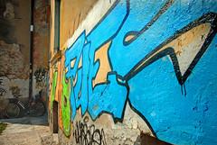 Verona Graffiti (jimj0will) Tags: graffiti wall colours colors colorful colourful writing paintwall bike alley italy italia trento verona veneto texture