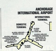 Alaska ANC diagram, August 1992 (airbus777) Tags: alaskaairlines 1992 airport diagram as map terminal anchorage anc