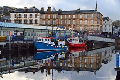 (Zak355) Tags: rothesay isleofbute bute scotland scottish reflections harbour fishingboats ro25 ro18