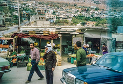 Kfarkela near Metula gate (Normann Photography) Tags: 1992 israel kfarkela lebanon libanon metula metullagate people tyre unifil everydaylife lb