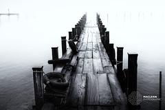 Misty Pier (MacLeanPhotographic) Tags: landscape macleanphotographic travel japan nikko water mist fog x100t fujifilm