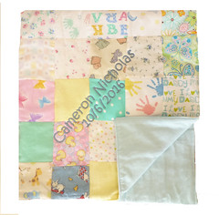 Patchwork Flannel Baby Quilt (initial_impressions) Tags: embroidered personalized patchworkquiltflannelbabyblanket