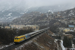 Poussin montagnard (Rmi.lapeyre) Tags: sncf train icn intercitesdenuit supplementaire bb67400 infra envoyage poussin largentierelabessee rampe hiver skieurs alpes neige parisausterlitz briancon