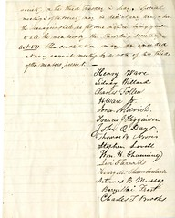 Signatures of the members of the Cambridge Anti-Slavery Society (Cambridge Room at the Cambridge Public Library) Tags: cambridgemass antislaverymovementsunitedstates muzzeyabartemasbowers18021892