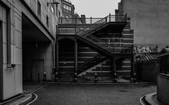Escher No.414 (Panda1339) Tags: 28mm leicaq summiluxq monochrome gritty stair streetphotography urbangeometry escher blackandwhite uk london jpeg