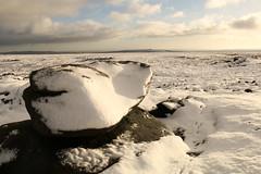 Iced Gritstone (Derbyshire Harrier) Tags: gritstone winter snow derbyshire derwentedge peakdistrict peakpark 2016 november boulders nationaltrust tracks darkpeak moorland backtor