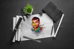 Tamim Iqbal (mrikhokon) Tags: bangladeshi cricketer digital art mrikhokon rickshaw artist bangladesh panting tamim iqbal