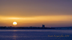 PB058121 (eivisenc) Tags: eivissa ibiza mediterraneo amanecer sol torre mar rocas calo silla canal freus salinas