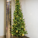 Christmas Tree By A Column