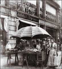 Fruit Stand (ookami_dou) Tags: vintage fruitstand market fruit vendor trade