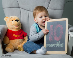 10 Months- December 4, 2016 (zachary.locks) Tags: 10 adorable bear chair chalkboard chewing cute cy365 eating fast growing happy jack monthly months old photo pooh sign sitting son up winnie zlocks